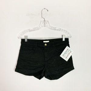 H&M NWT black shorts size 6